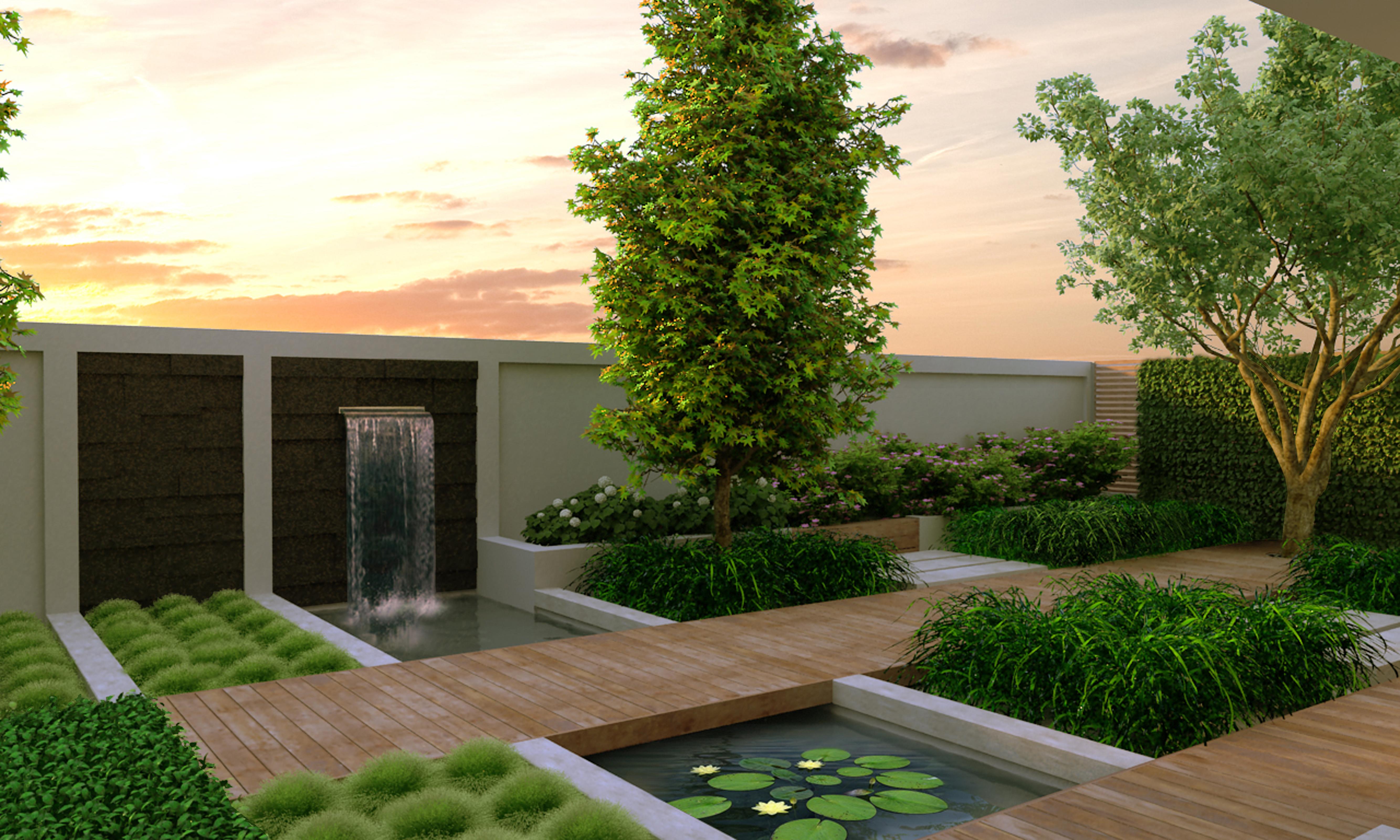 Modern gardens 6 tuin idee